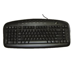 Wired Keyboard lefthanded black USB english BS29B