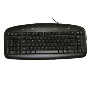 Clavier gaucher noir Avec fil USB anglais BS29B